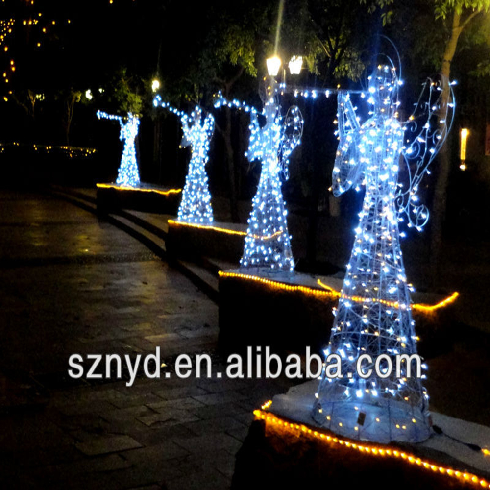 Lighted outdoor angel democraciaejustica christmas light 3d led lighted angel outdoor christmas aloadofball Choice Image