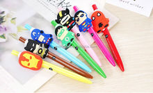 cheap wholesale fashion 3d avengers alliance cartoon character plastic ball pen for kids gifts