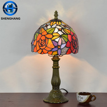 Trend 2018 African style table lamp hotel lamp tiffany series