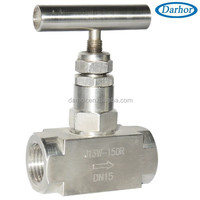 High pressure stainless steel SS316 gas needle valve