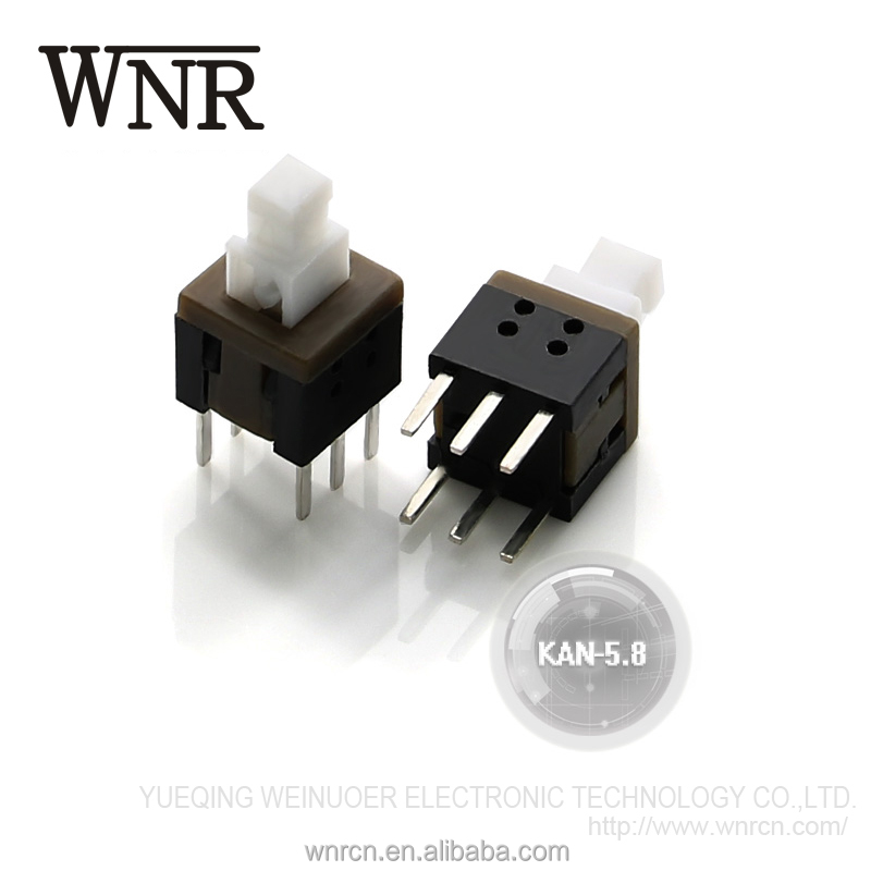 High quality 6 pin push button switch key switch KAN-5.8 KAN Dip Switch