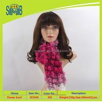 shanghai oeko tex quality manufacturer smb popular wholesale 2016 new design pure hand knitted fashion scarf shawl
