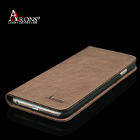 Hidden magnet wallet opening flip leather case for iphone 6 plus
