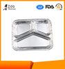 Three Compartment Takeway Aluminum Foil Containers with Low MOQS