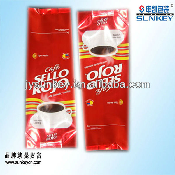 Aluminum foil green coffee bean packaging bag