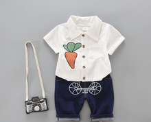 new summer 2017 boys two-piece clothing sets Korean boutique children's clothing