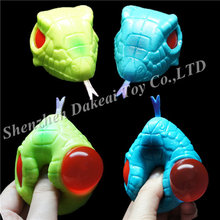 Fun Kids Squeezy Snake Head eyes pop out Stress Relief Animals toy