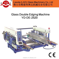 CE High efficiency full automatic PLC control glass double edging machine YD-DE-2520