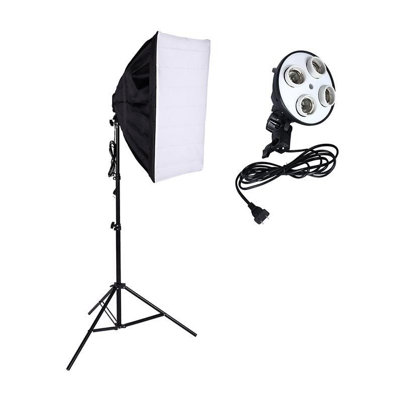 Fotostudio Kit Fotografie Licht 4 Sockel Lampenfassung + 50 * 70 CM Softbox + 2 Mt Licht Stehen Foto Soft Box - ANKUX Tech Co., Ltd