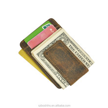 Boshiho newest men leather rfid credit card wallet slim money clip wallet