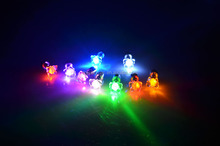 promotional 2016 6mm zircon stone girls boys couples butterfly style glow in the dark flashing light up led stud earrings