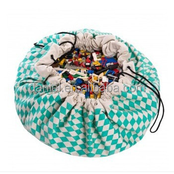 Hot selling lego toy storage bag with drawstring cord