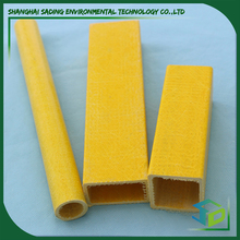 Grp/Frp plastic square tube profile, Corrosion/Chemical resistant Frp composite profile for construction