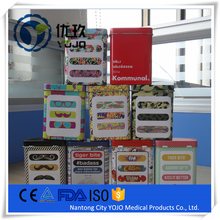 High Quality Cartoon Waterproof PE Plaster Band Aid Packed In Tin Box