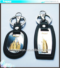 collection travel dubai gift tower souvenir leather car keyring metal