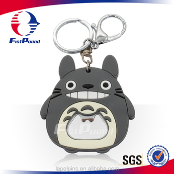 Popular Totoro PVC key chains With Bottle Opener