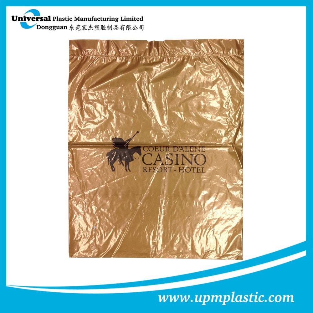One time use disposable dry cleaning hotel laundry bag