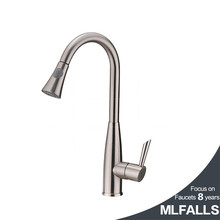 Stainless steel pull out spray kitchen faucet mixer tap pull out sprayer kitchen faucet satin nickel brushed