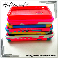 Mobile Phone Covers for iPhone Plastic+ Silicon Cases Bumper for iPhone