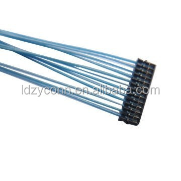 UL approved 0.6mm pitch IDC housing with blue wire wire harness