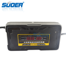 Suoer Factory Price Fast 8.9A 48V Electric Vehicle Bike Car Battery Charger