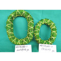 Decorative Wreath Green Rattan Wreath Grass Wreath