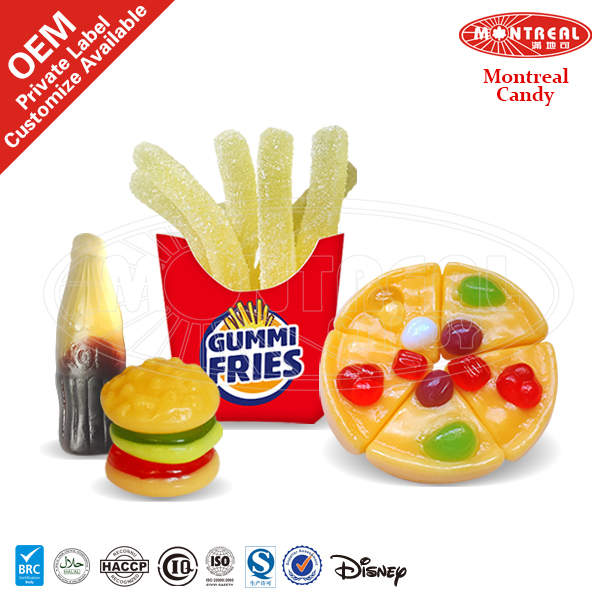 Fat Free Wholesale Fast Food Gummy Candy With Halal Certificate