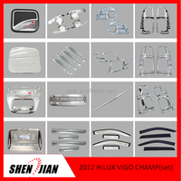 2016 Complete Full Set Kits For 2012 Toyota Hilux Vigo Champ Complete Kits Car Exterior chrome Accessory pickup 4x4 accessories