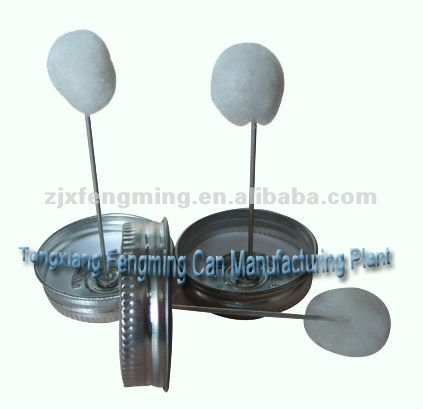 metal cap cover, metal cover (for pvc can use, with dauber in cap)