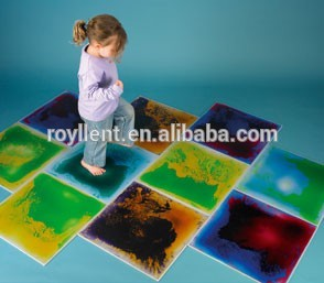Sensory Liquid Tiles tactile tile children indoor playground flooring 50*50cm