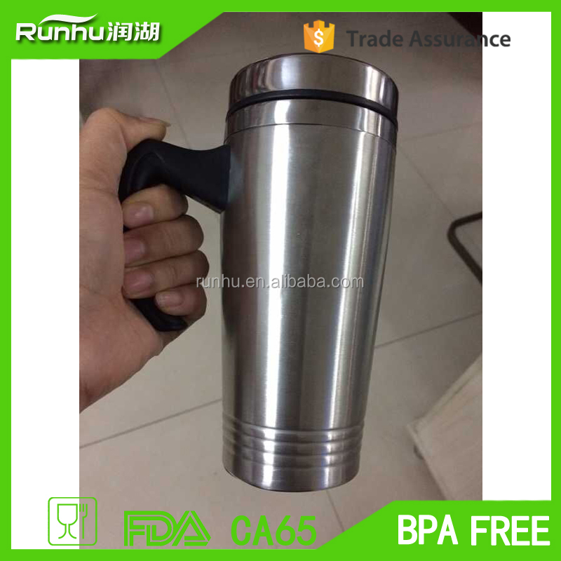 Fashion design Stainless Steel Metal Travel mug/Coffee Thermal mug cup 450ml RHS302-14