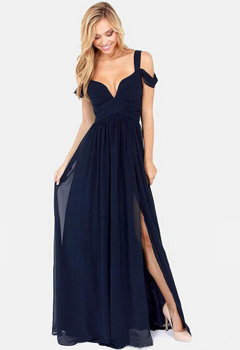 2016 Latest Fashion <strong>Dresses</strong> Women One Pieces Chiffon Long Cocktail <strong>Dress</strong>