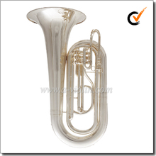 Bb Key Silver plated Stainless steel Piston Marching Tuba (TU030G)