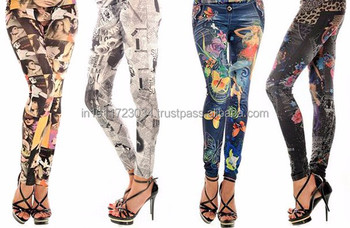 Attractive fashionable printed leggings, sublimation print leggings, digital print latest leggings all over pint leggings