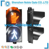200mm led yellow hand traffic stop sign white man pedestrian signal