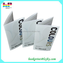 low cost upmarket advertising catalog folded brochure printing