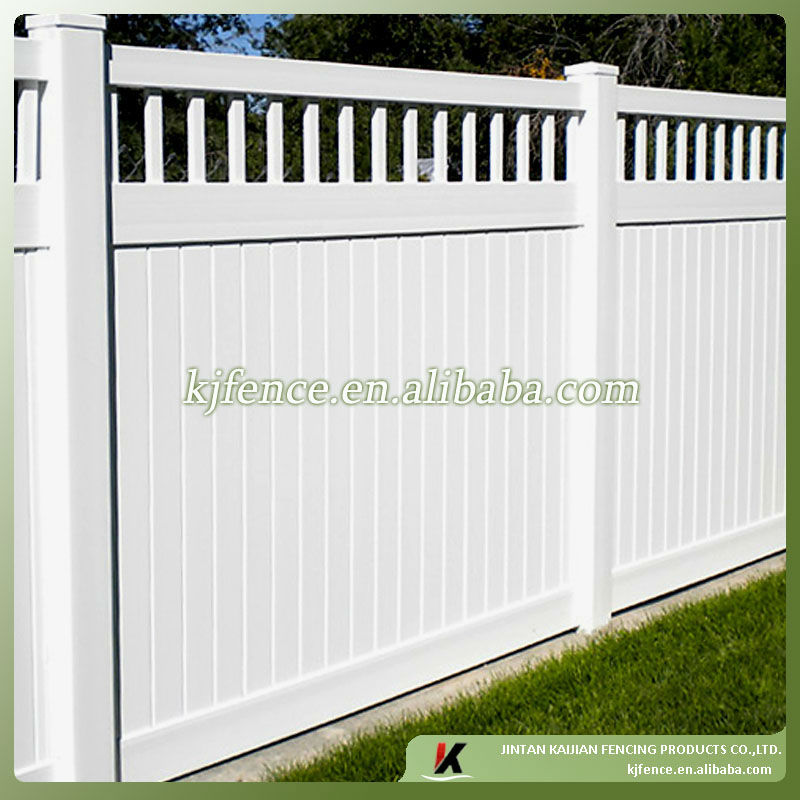 Plastic Privacy Fence with closed picket top