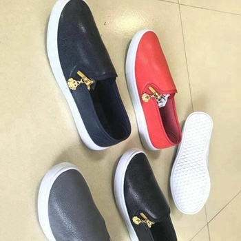 Slip-on lady PU injection casual flat shoes PY0614-6