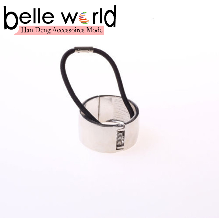 New Women Hair Cuff Wrap Elastic Hair Band Rope Ring