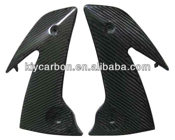 Carbon fiber frame covers for Kawasaki motorcycles