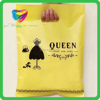 China made customized logo printed best quality die cut handle plastic bag