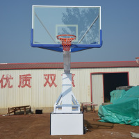 Hot Sale Portable Height Adjustable Manual hydraulic basketball hoop for outdoor and indoor usage