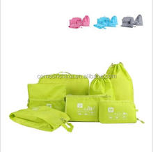7Pcs/Set Waterproof Clothes Travel Bag Luggage Underwear Bra Organizer Wash Toiletry Device Bag Make up Bag