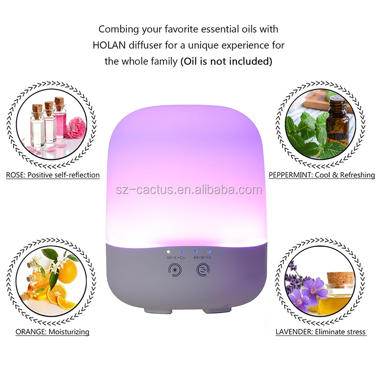 Adjustable Mist Mode Aroma Diffuser Glass Bottle For Office