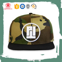 cheap customized sticker flat brim hats plain Digital print camo snapback cap
