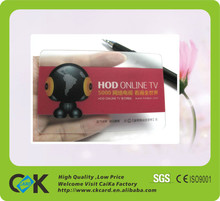 transparent material plastic card for restaurant vip member