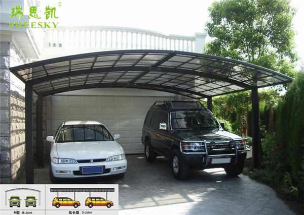 white metal frame fiberglass sheet carport roofing material with polycarbonate sheet,high snow load carport,carport with arched