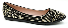 Comfort Stud Leather Ballerinas Travel Ballet Flats Point Toe Leather Shoes Women