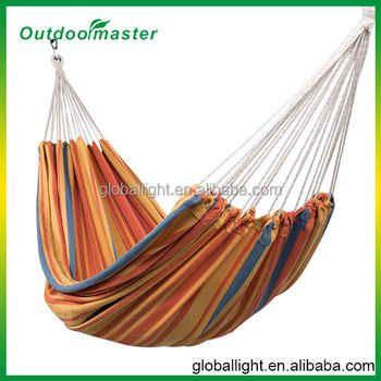 Sunset Double Cotton Fabric Hammock with Carry Bag