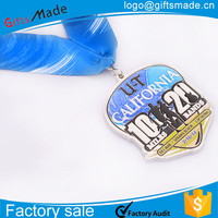 kids cartoon medals/cycling epoxy sublimation medal